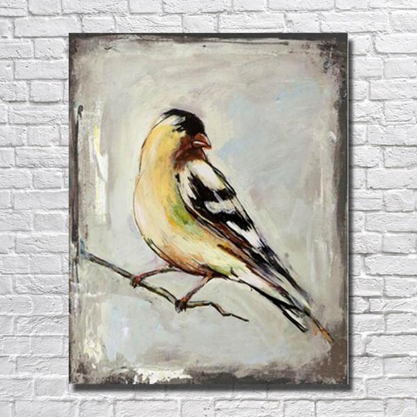 Top qualität 2016 große größe günstigen preis leinwand vogel bild billige moderne ölgemälde Handgemalte Leinwand Ölgemälde
