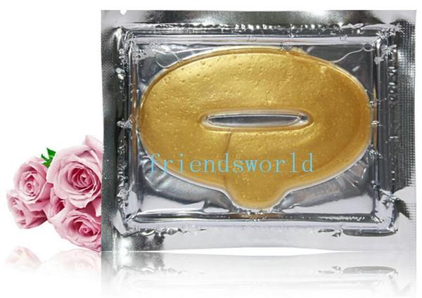 2015 venta caliente 1000 unids / lote oro colágeno Crystal Lip Mask membrana cuidado Moisture Essence envío gratis
