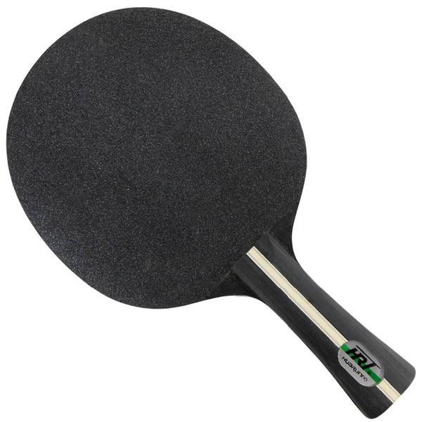 Frete grátis por atacado, HRT preto cristal (5 de madeira + 2 cristal de carbono) OFF lâmina de tênis de mesa para raquete de pingue-pongue