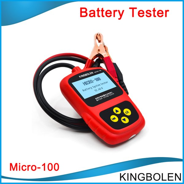 DHL Free Shipping MICRO-100 Multi-language Automotive Battery System Tester tool for 12V 100% original micro 100 free shipping