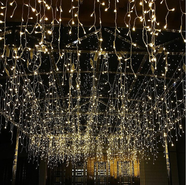 Wholesale 3 3m 300led Icicle Curtain String Lights 220v New Year Christmas Led Icicle Lights Waterproof Outdoor For Wedding Holiday Lantern String