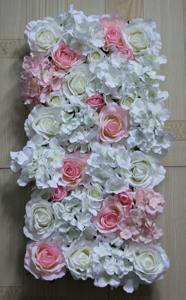 HOT! white light pink 10pcs/lot Artificial silk rose flower wall wedding background lawn/pillar road lead market decoration