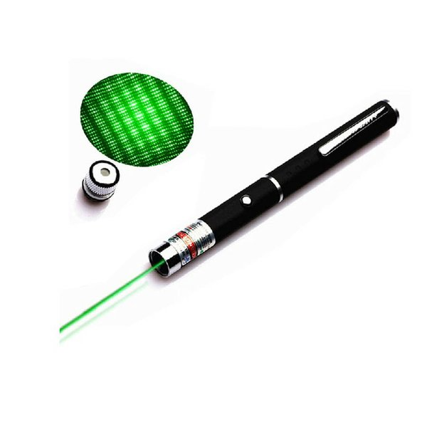 5mw 532nm high power green laser pointer pen with star cap projector professional lazer pointer visible beam light wholesale 100pcs/lot