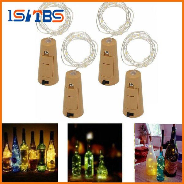 2017 Hot 2M 20LED Lamp Cork Shaped Bottle Stopper Light Glass Wine LED Copper Wire String Lights For Xmas Party Wedding