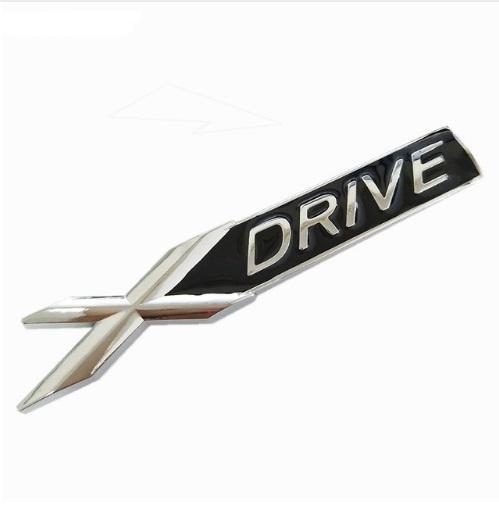 3D Metal Chrome Badge X DRIVE Emblem Badge Sticker Decal for BMW 3 4 5 6 7 All Series X1 X3 X5 E70 X6 E71 Car Decoration