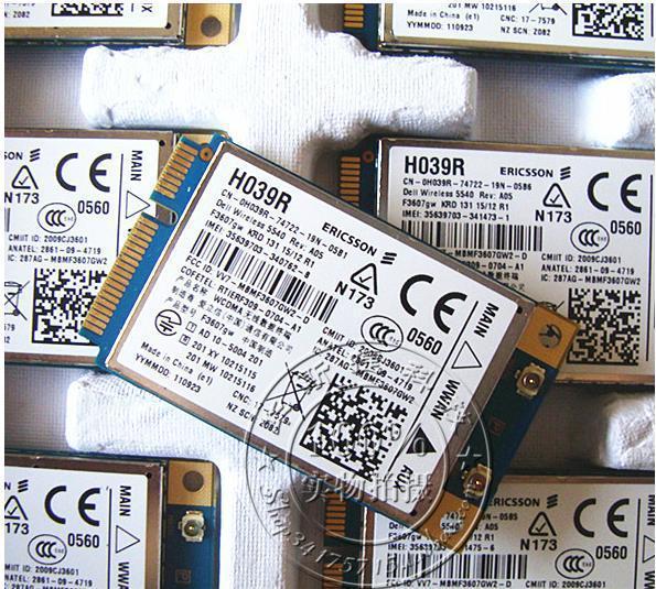 top popular Freeshipping F3607gw E6400 WWAN 5540 DW5540 3G MODULE Card FOR E6400 E6500 E6410 E6510 E4200 DELL 5540 C680R H039R 2021