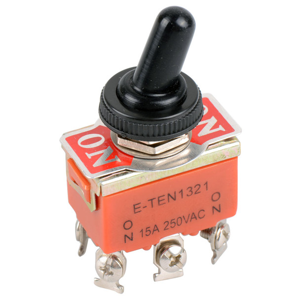 best selling 6-Pin Toggle DPDT DC Moto Reverse ON-OFF-ON Switch 15A 250V Mini Switch Cap B00190 BARD