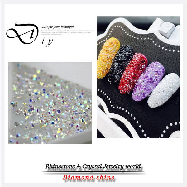 best selling Wholesale-New Crystal Pixie For 3D Nail Micro 1.3-1.5mm Mini Nail Rhinestones Decoration DIY ,1440pcs pack