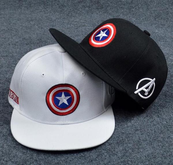 Мстители Капитан Америка щит пятиконечная звезда кепка плоский вдоль той же секции бейсболка RUNNINGMAN HJIA684
