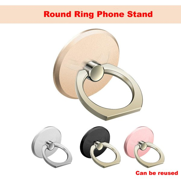 360 Degree Round Finger Ring Mobile Phone Smartphone Stand Holder For iPhone and all Smart Phone Luxury Models 4 colors