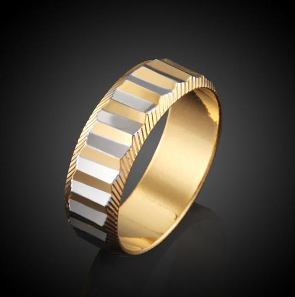 Anelli della vite di marca di modo amante anelli di barretta vuoti placcati 18K per gli anelli di fidanzamento delle coppie Prezzo poco costoso