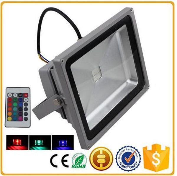 RGB led proiettori IP65 impermeabile dmx outdoor illuminazione a led 10w / 20w / 30w / 50w / 100w / 150w / 200w proiettore AC85-265V