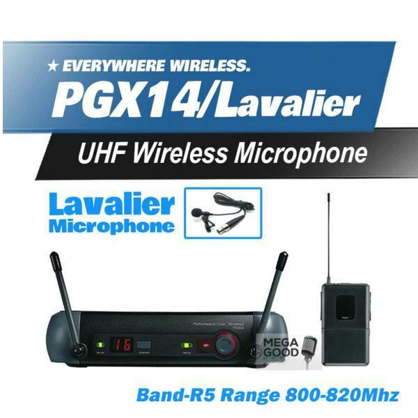 Microfono Free Shipping! PGX PGX14 WL93 UHF Professional Karaoke Wireless Microphone System with Lapel Lavalier Collar Clip Mic 800-820Mhz
