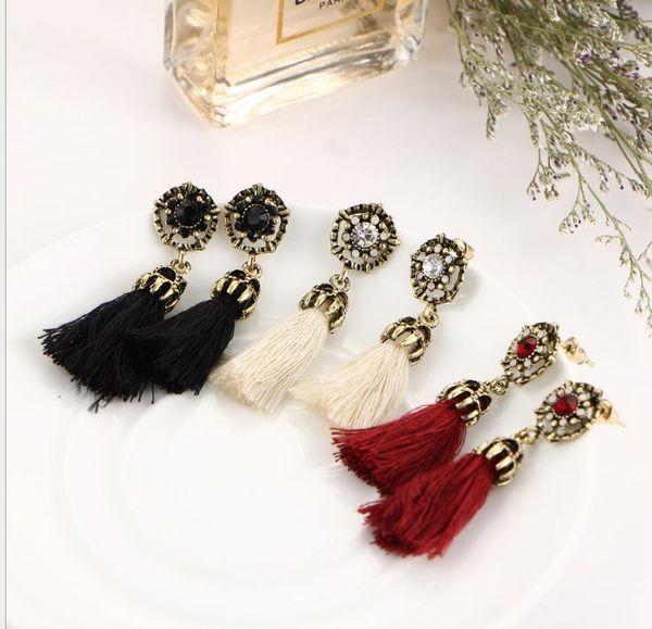 Boho Rope Tassel Earrings Vintage oro ciondola gli orecchini per le donne ragazze etniche gioielli bohemien S442