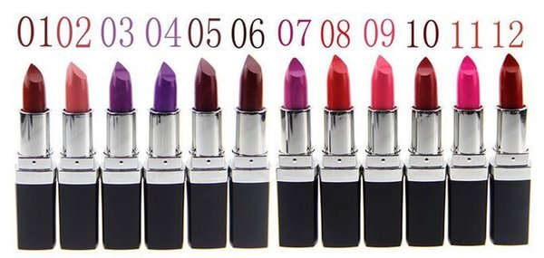 Foreign trade hot style qibest 12 color brand lipstick vampire dark purple lip stick Dark purple lip balm 120pcs/lot