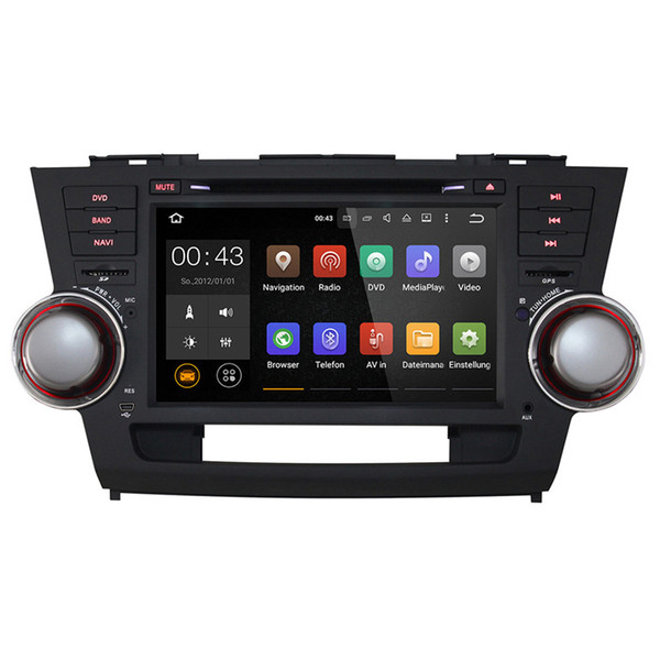Joyous 1024*600 Quad Core Android 5.1 for TOYOTA HIGHLANDER/Kluger 2008 2009 2010 2011 Car DVD PlayerGPS Navigation Radio Headunit