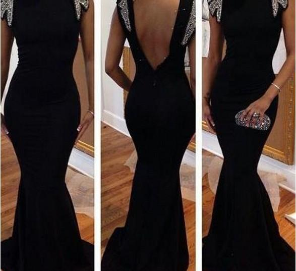 free shipping robe de soiree 2018 new sexy backless vestidos de fiesta long prom girl party Mermaid evening elegant gown Dress