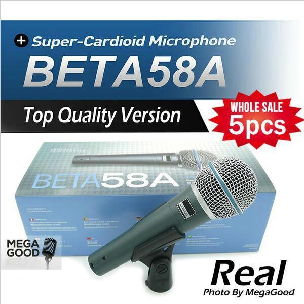 Microfono 5 adet Üst Kalite Sürümü Beta 58 bir Vokal Karaoke El Dinamik Kablolu Mikrofon BETA58 Mikrofonun Beta 58 Bir Mic ücretsiz mikrafon