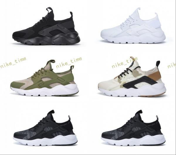 aaf61d438b53e 2017 Hot Air Huarache Ultra 4 Running Shoes Women Men Mesh Huaraches Sports  Triple White Black Camouflage army Huraches Hurache Sneakers 5-1