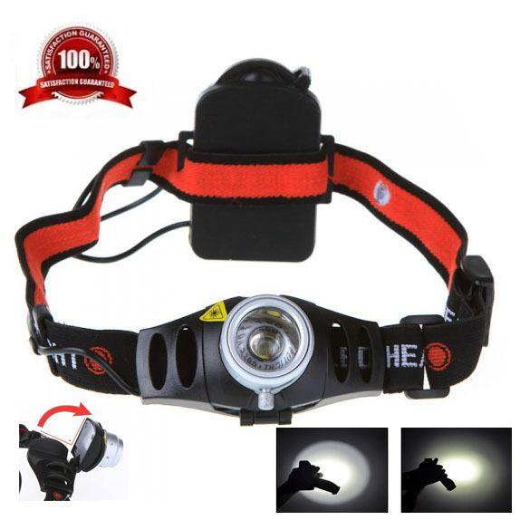 500LM CREE Q5 LED Headlamp Headlight for Bicycle Hunting Camping Outdoor Lighting Zoom In/ Out Adjustable Focus Light