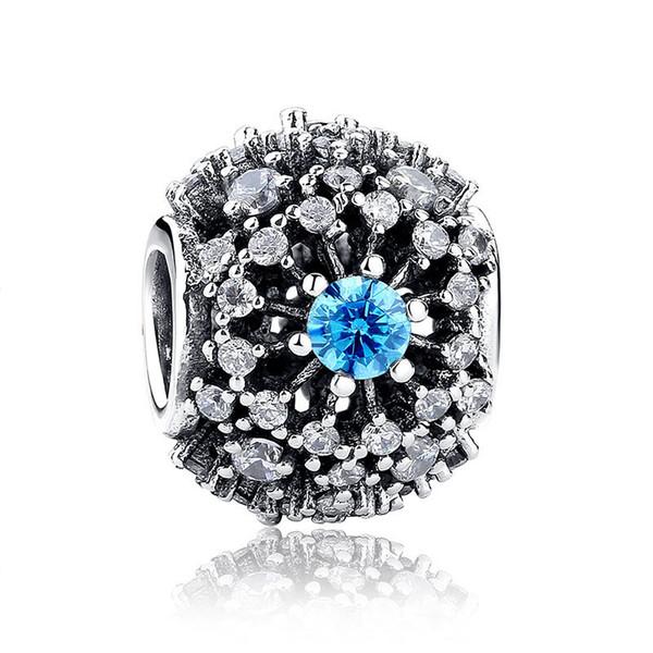 Neue 925 Splitter-Korn-Charme-voller tschechischer Diamant Mikro-pave Korne passten Pandora-Armband-Armband-Halskette DIY Schmucksachen