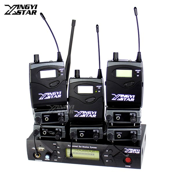 Professional Monitoring UHF Wireless In Ear Headphone Stage Monitor System One USB Transmitter With Eight Receiver Recording Studio Mixer