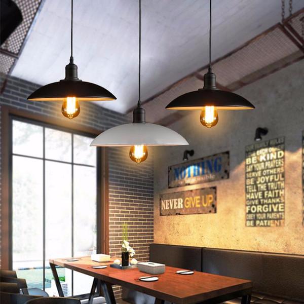 Al por mayor-Vintage luces colgantes de hierro que cuelgan E27 Bombilla Night Lamp accesorio Loft Bar Living Room Home Decor Novedad iluminación