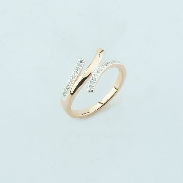 Fashion Jewelry Women 585 Rose Gold Color Special Designed White Wedding Rings Party Jewelry