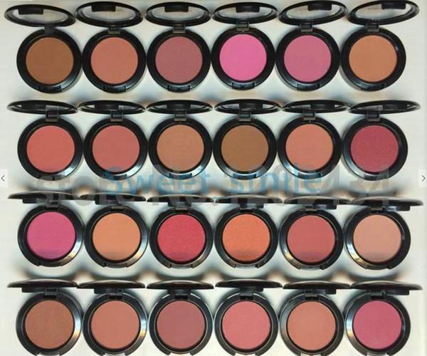 Mejor calidad de maquillaje facial bronceador en polvo colorete 24 diferentes colores 6 g con nombre en inglés envío gratis