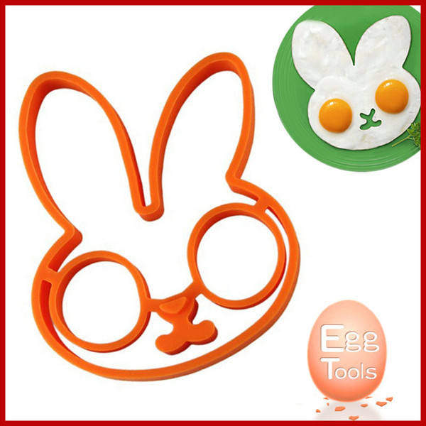 New Breakfast Silicone Rabbit Fried Egg Mold Pancake Ring Shaper Cooking Tools Kitchen Gadgets Kid Gift