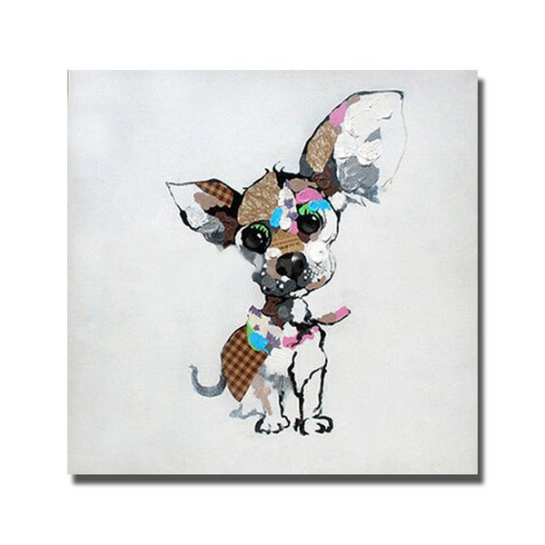Hand painted dropshipping art oil painting cartoon dog pop art images in high quality original art for sale