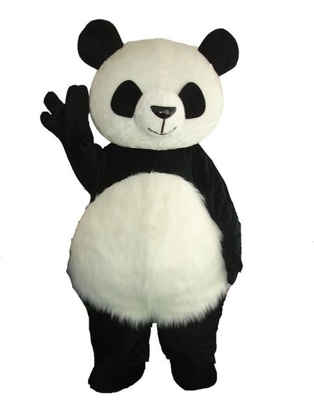 top popular High Quality Cute Panda Bear Mascot Costume Fancy Party Dress Free Shipping 2020