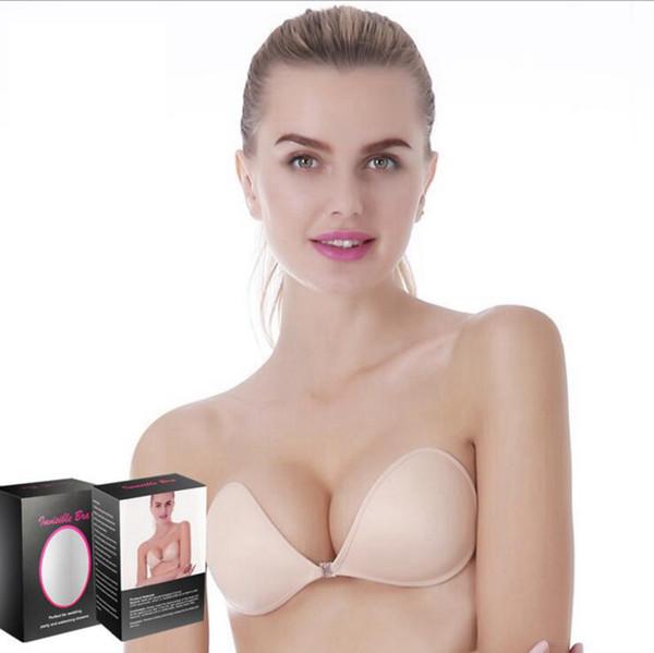 Silicone Push Up Bras Strapless Adhesive Backless Self-Adhesive Bra Seamless Invisible Sexy Women Summer Bra LJJO2725