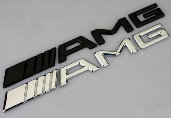 10 pcs Carro Prata Cromo Preto 3 M AMG Decal Adesivo Emblema Do Logotipo Emblemas para Mercedes CL GL ML ML A B C E Sclass