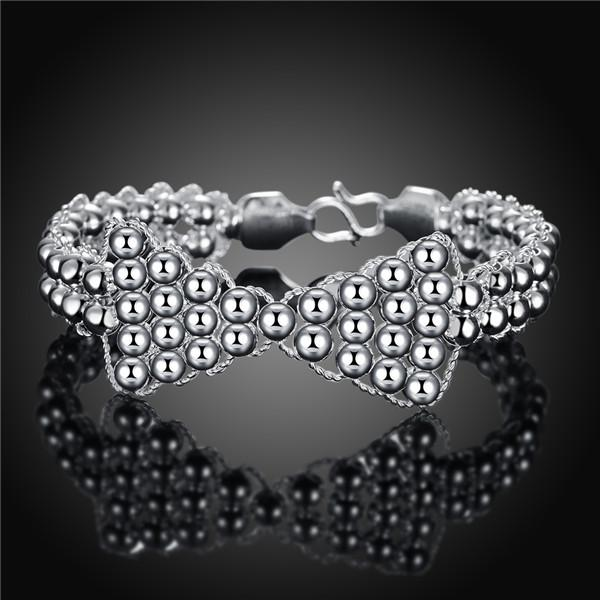 Hot sale christmas gift 925 silver Bow Bracelet transfer beads DFMCH401, new fashion sterling silver plate Chain link bracelets high grade