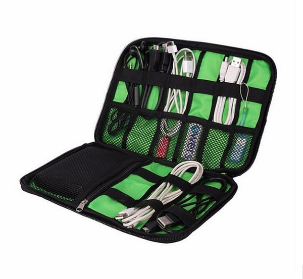 2016 New Storage Bag Digital Fashion Organizer System Kit Case Devices Earphone Wire Pen USB Data Cable Travel Insert
