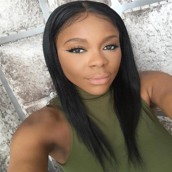 8A Grade Brazilian Full Lace Wigs Top Quality Natural Straight Wig Lace Frontal Human Hair With Baby Hair