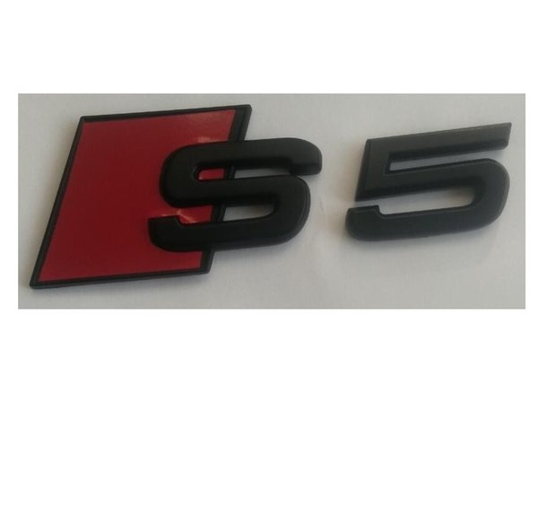 """Matte Black """" S 5 """" ABS Number Letters Trunk Emblem Badge Sticker for Audi S5"""