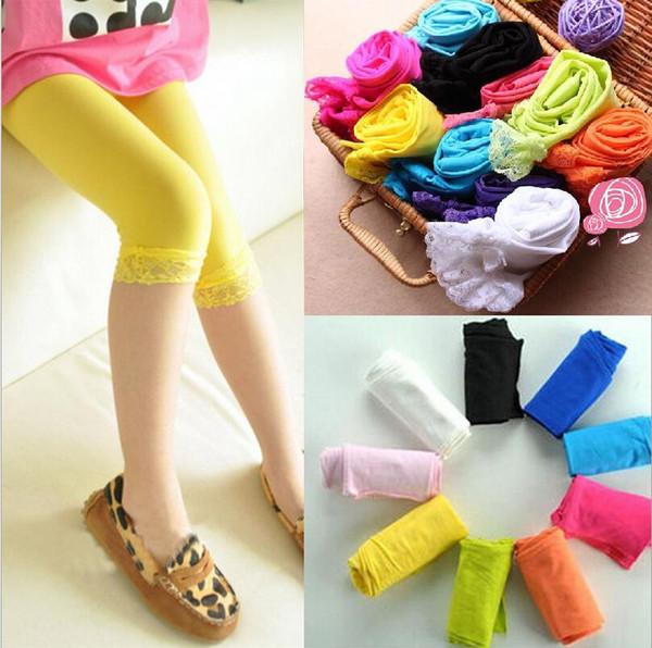 Summer Autumn Baby Girls Velvet Lace Tights Thin Toddler Leggings Socks Kids Candy Color Leggings Girls Fashion Summer Cute Dress Sock
