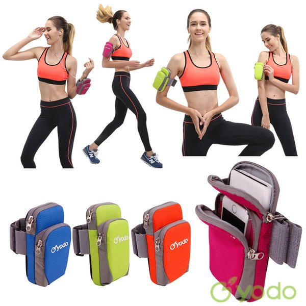 YODO Sports Running Jogging Gym Armband Arm Band Holder Bag For Mobile Phones 4 Colors Retail Sales
