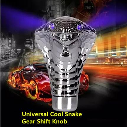 Universal Car Gear Shift Knob lever Stick Lighted Gears Rally Racing Shifter for Manual Transmission Blue Red Eyes Car Styling
