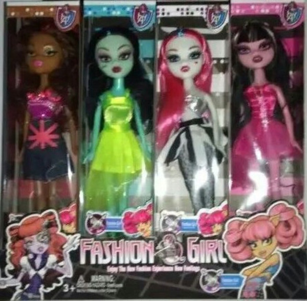top popular 2015 girls monster high dolls 24.5 cm fad girl toys kids girl moveable joint empty body doll J062504# 2020