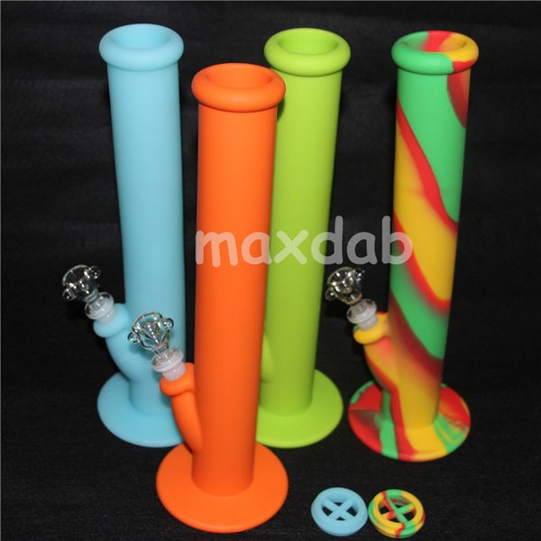 free shipping & good quality silicone water pipes nine colors for choice glass bongs glass water pipe silicone water pipe