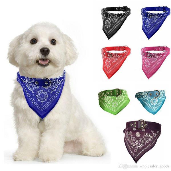 Dog Clothes Pet Dog Scarf Clothing Pet Triangular Bandage Pet Scarf Dog Collars Triangular Bandage Pet Scarf Dog Collar Saliva Towels