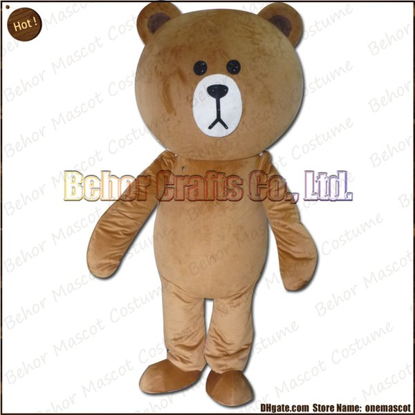 New bear mascot costume EMS free shipping, cheap high quality carnival party Fancy plush walking Teddy bear mascot cartoon adult size.