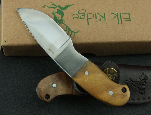 Browning Elk Ridge African Fixed Blade Knife 5Cr13Mov 57HRC Steel Blade Wood Handle Tactical Camping Hunting Survival Pocket EDC Collection