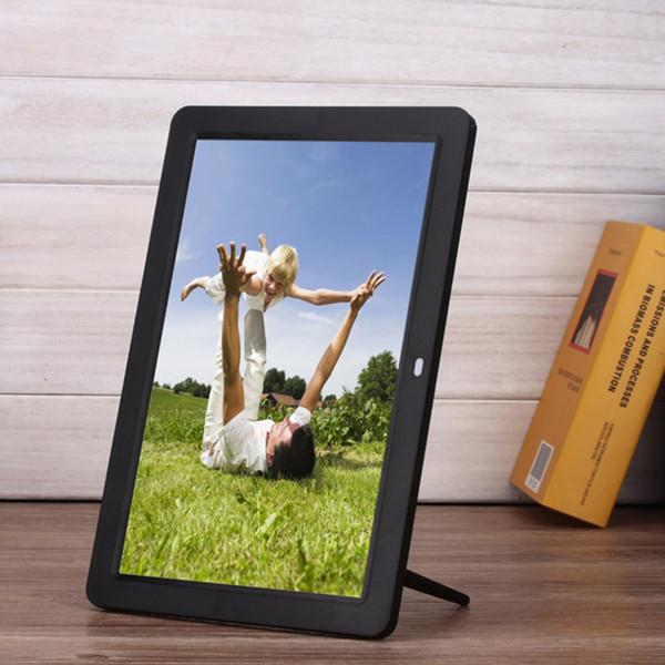 Nuevos marcos de fotos digitales Smart Home TFT LED Películas digitales Reloj despertador MP3 Marco de fotos con control remoto Touch Pen EE. UU. Enchufe