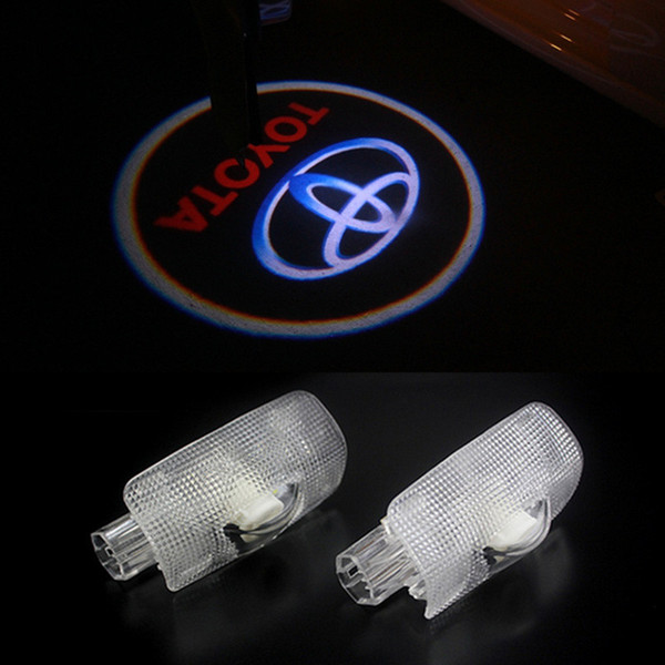 2pcs Door light replace For Toyota Highlander Camry corolla Reize crown Prado Prius Led door logo & Door Light Replace For Toyota Highlander Camry Corolla Reize Crown ...