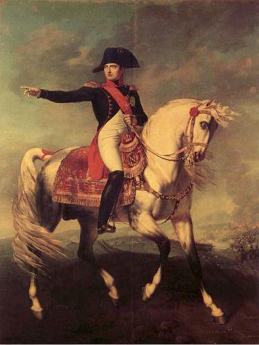 Framed NAPOLEON BONAPARTE RIDE HORSE,Pure Handpainted Portrait Art Oil Painting On High Quality Canvas Multi Sizes Free Shipping