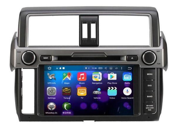8-Core 8 inch Android 6.0 Car Dvd Gps Navi Audio for Toyota Prado 2014 2015 HD1024*600 1080P 2GB 32GB nand Wifi STEERING WHEEL